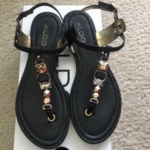 Aldo Tano black jeweled sandals